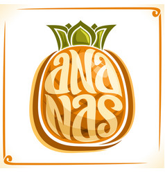Logo for ananas vector