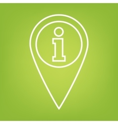Map pointer line icon vector