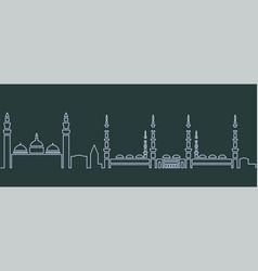 Medina single line skyline vector