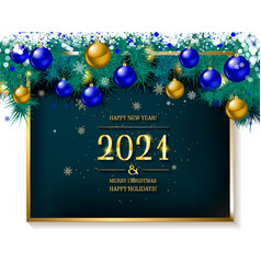 Merry christmas and happy new year 2021 vector