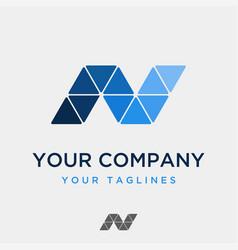 minimalist technology company logo vector image