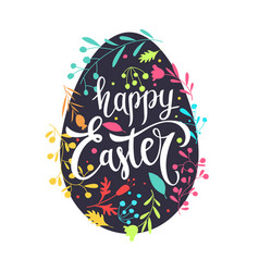 modern hand drawn lettering happy easter vector image