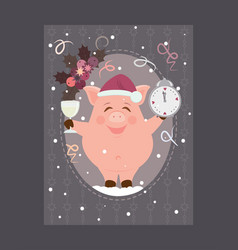 new year greeting card 2 vector image