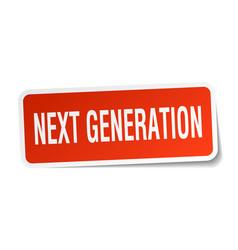 Next generation square sticker on white vector