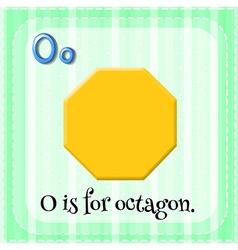 Octagon vector image
