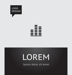 of music symbol on volume vector image