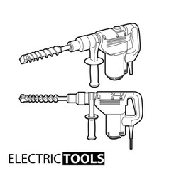 outline electric drill vector image vector image
