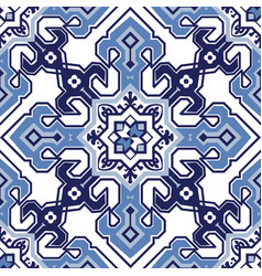 Pattern in the style of mediterranean tiles vector