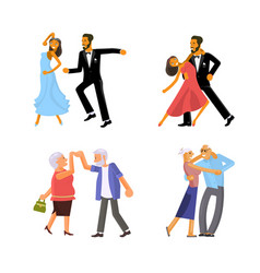 people are dancing vector image