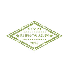 Postal stamp from buenos aires vector