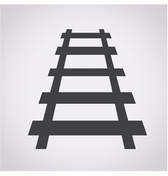 railway track icon vector image