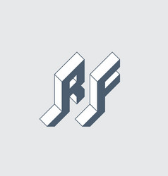 Rf - 2-letter code or logo r and f - monogram vector