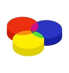RGB color profile icon cartoon style vector