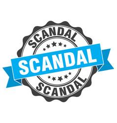 Scandal stamp sign seal vector
