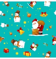 Seamless pattern Merry Christmas and Happy New vector