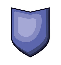 shield in purple color with brightness vector image