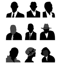 Silhouettes of avatars vector