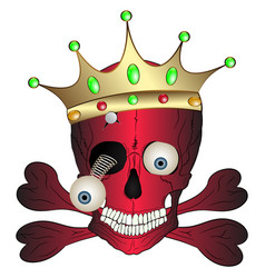 skull and crown vector image