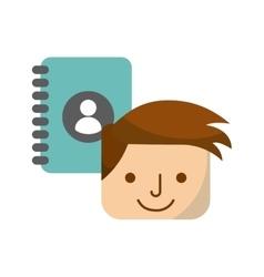 social media flat line icon vector image