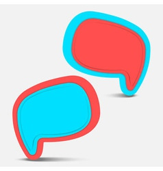 Speech bubble pop color vector