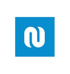symbol alphabet white n letter vector image