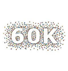 Thank you followers peoples 60k online social vector