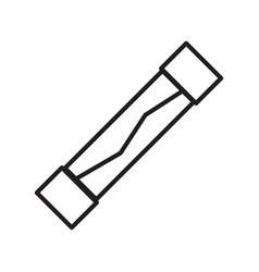 Thin line fuse icon vector