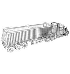 Tipper lorry on transparent background logistics vector
