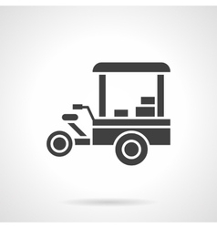 Tricycle shop black glyph style icon vector