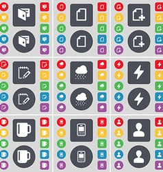 Wallet File Notebook Cloud Flash Cup Mobile phone vector image