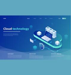 web cloud technology business vector image
