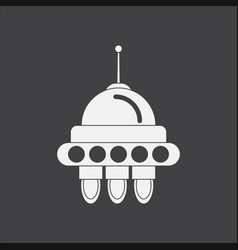 White icon on black background space capsule vector