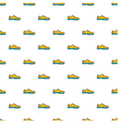 Yellow golf shoes pattern vector