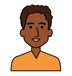 Young black man avatar character vector