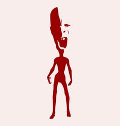 Zombie silhouette vector