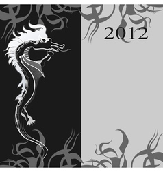 background with a black dragon the symbol of the n vector image