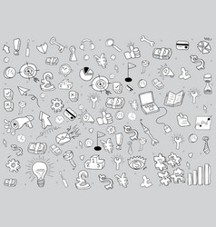 business doodles objects background drawing by vector image vector image