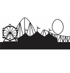 carnival scene vector image vector image