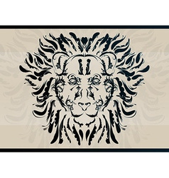 lion abstract tattoo vector image