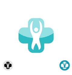 Medical cross logo vector image vector image