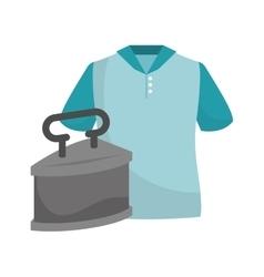 tshirt and metal iron vector image