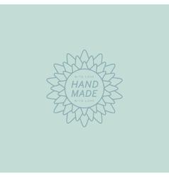 Flower Hand Made Trademark vector image