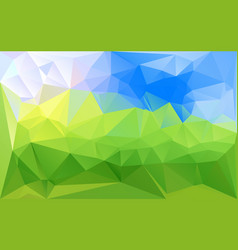 horizontal green blue lowpoly background vector image vector image