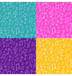 seamless pattern with musical notes vector image vector image