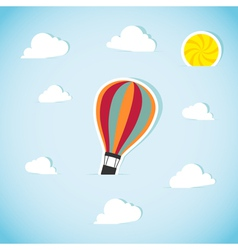 Abstract paper air balloon vector image vector image