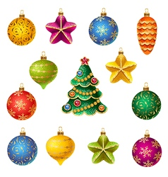 Christmas decoration set vector image