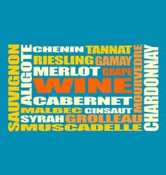 drink beverage wine grapes varieties words cloud vector image