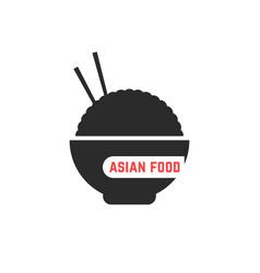 simple asian food logo vector image
