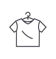 t-shirt line icon sign on vector image