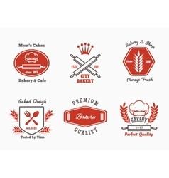Bakery cafe bistro logo set vector image vector image